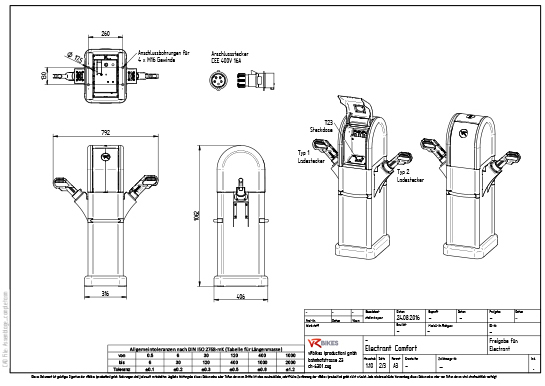 Installation drawing ELECTRANT comfort download as a PDF.